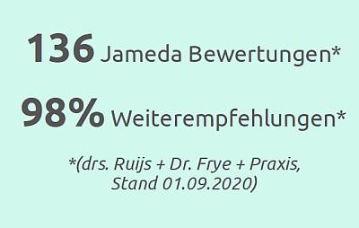 Jameda top Bewertung Kieferorthopäden in Essen