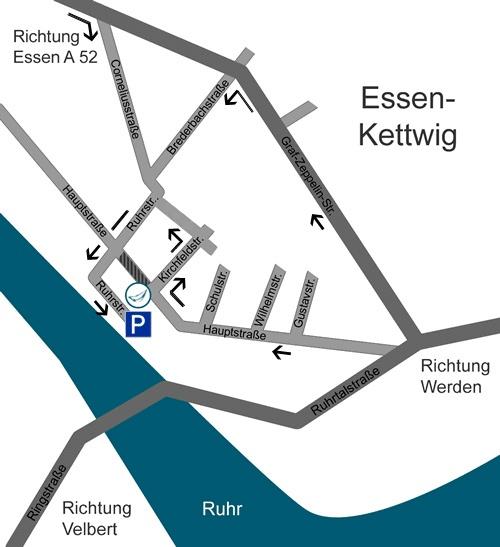 Anfahrt Kieferorthopädie my-smile Essen Kettwig